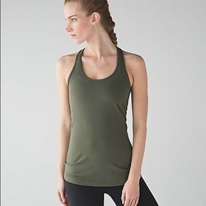 Lululemon | Olive Green Cool Stretch Workout Tank